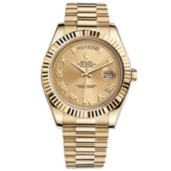 Rolex Day-date II Champagne Automatic 18kt Yellow Gold Men's Watch 218238CRP