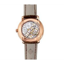 Patek Philippe Complications Mother of Pearl Dial Taupe Leather Ladies Watch 4968R-001