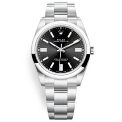 Rolex Oyster Perpetual 124300 Black Index Dial Oyster Bracelet Watch