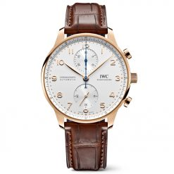 IWC IW371611 Portugieser Chronograph Automatic White Dial 18kt Rose Gold Men's Watch