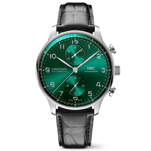IWC IW371615 Portugieser Chronograph Automatic Green Dial Men's Watch